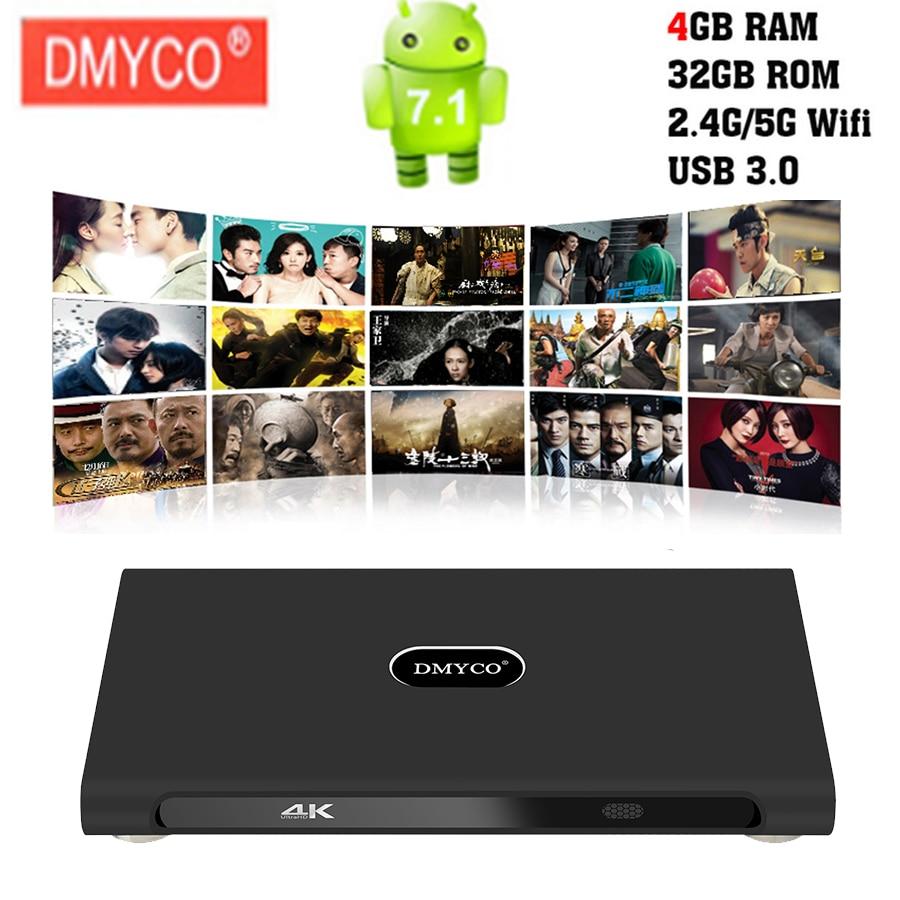 Android 4GB RAM 32GB ROM K10 Plus Android 7.1 RK3399 4K 60fps Youtube Google box Dual-core Cortex-A72 5G WIFI Set top tv box цена 2017