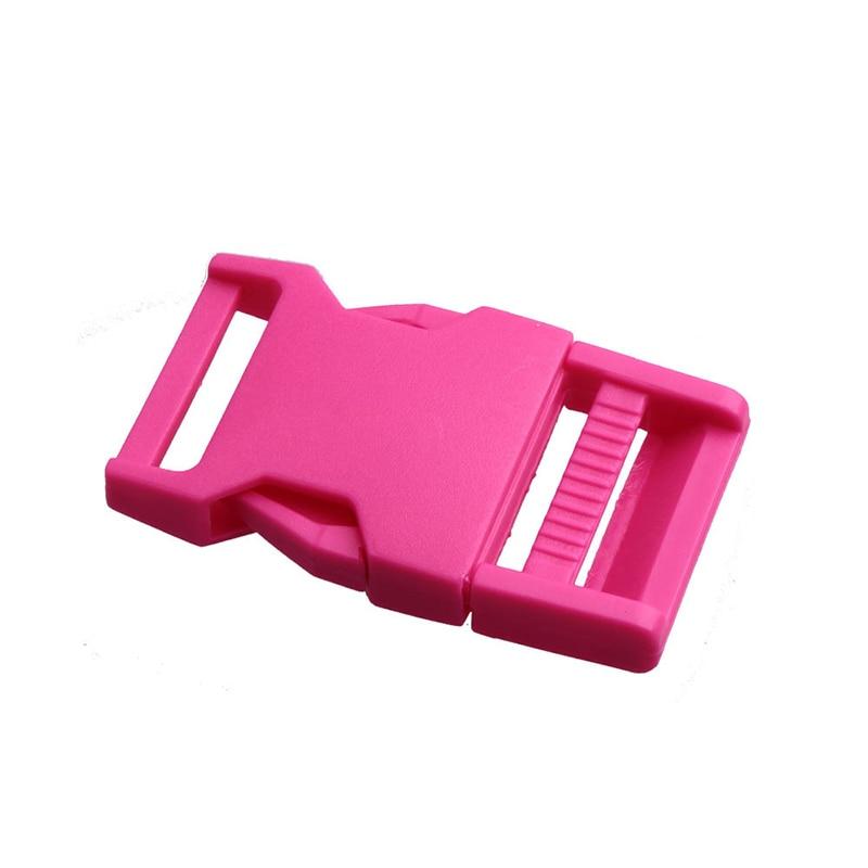 Лямки швейные инструменты собачьи ремни пряжки двойные регулируемые Крючки для рюкзака Высокое качество 1 шт. 25 мм популярная пластиковая пряжка безопасности - Цвет: pink