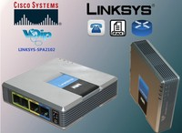 New Unlocked Linksys Voice SIP IP VoIP SPA2102 Phone Adapter Router Telephone Server Telefone Telefonia Phone