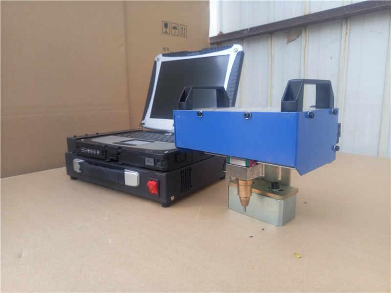 Máquina de marcado neumático portátil 125*30mm para el marco del motor de la motocicleta número 30-40 mm/s