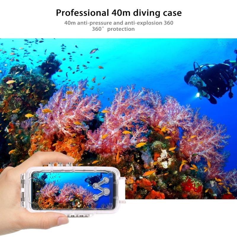PULUZ voor Huawei Mate 20 Pro duiken waterproof case PC + ABS beschermhoes 40 meter waterdicht (kleur: transparant kleurloos) - 5