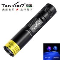 Free Shipping TANK007 TK566 365nm 1W UV LED Aluminum Alloy Handle black light fluorescent work flashlight torch
