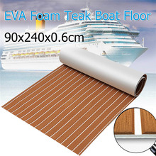 EVA Foam Teak deck Brown + White Strip Self Adhesive Sheet Boat Yacht Synthetic Decking Foam Floor Mat Strong 3M Gule 120x240cm dark grey and black eva foam faux teak sheet boat yacht synthetic teak decking pad