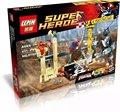 LEPIN 07021 Súper Héroes Rinoceronte y Coco Super Villano Team-Up Kit de bloques de construcción de juguetes para niños de regalo