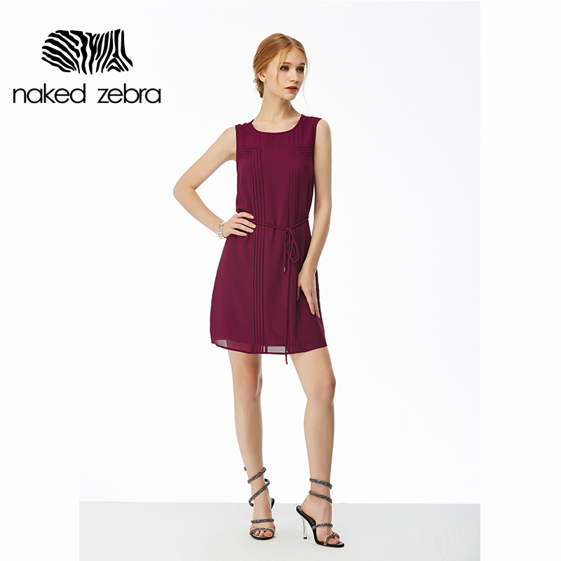 Naked Zebra Fashion Woman Dress Summer Pure Color -8739