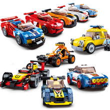 City Speed Champions Sports Car Compatible Technic Racing Car Super Racers Figures Building Blocks Bricks Toys For Children(China)