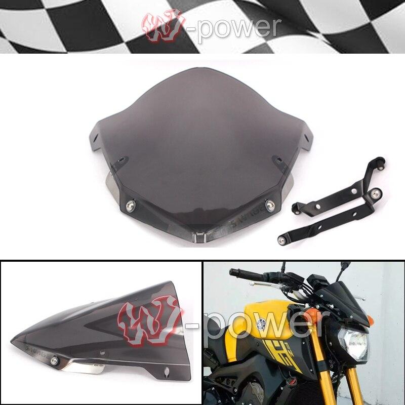 Moto Pare-Brise Pare-Brise Pare-Brise Fumée fite Pour YAMAHA MT 09 MT-09 FZ-09 2014-205 2016