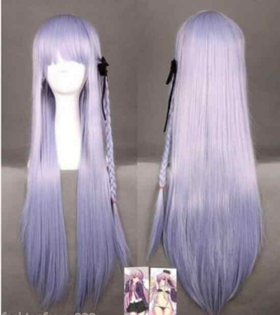 Парик 80 см Dangan Ronpa kouko kirigri косплей парик с оплеткой светло-фиолетовый Бесплатная доставка