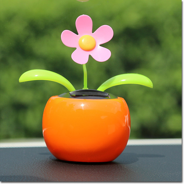 238d5e99c14cdc Fun Solar Dancing Automatic Swing Toy Flowers Waterless Battery free Car  Decor Home Decoration Plants Gift Drop shipping