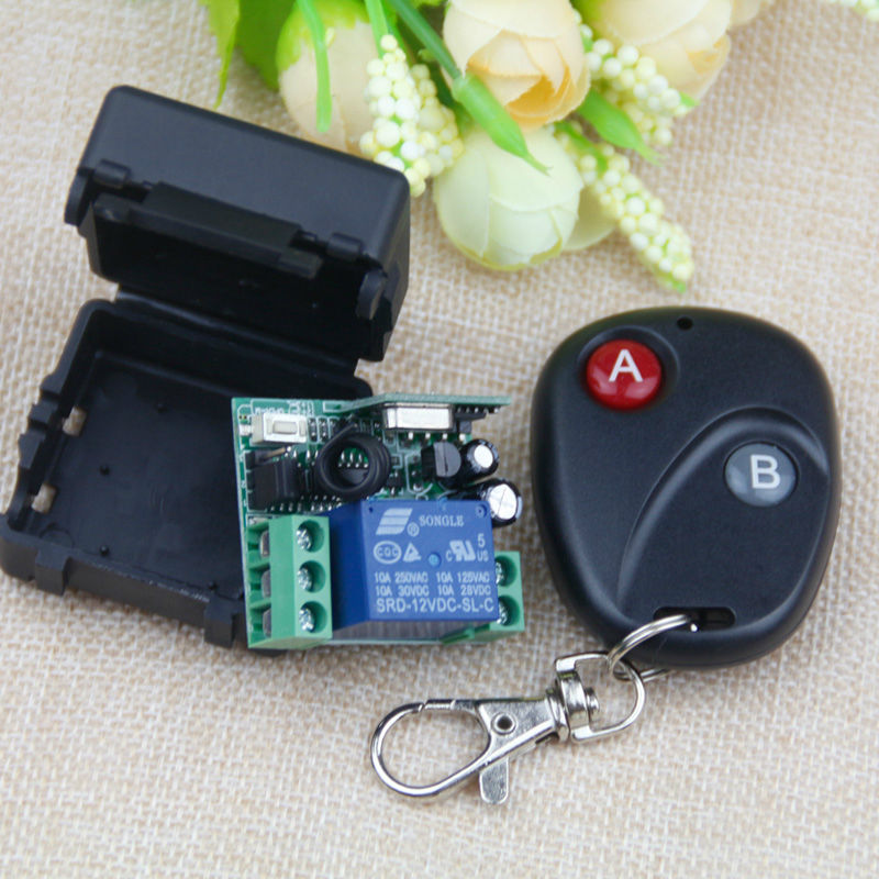 433Mhz Universal Wireless Remote Control Switch DC 12V 10A relay Receiver Module RF Transmitter 433 Mhz Remote Controls