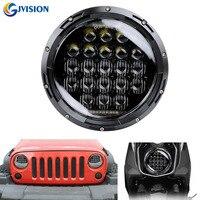 75W 5D 7 INCH Round led projector Daymaker headlight for Jeep wrangler JK Land Rover Defender 90 & 110 Hummer H1 H2