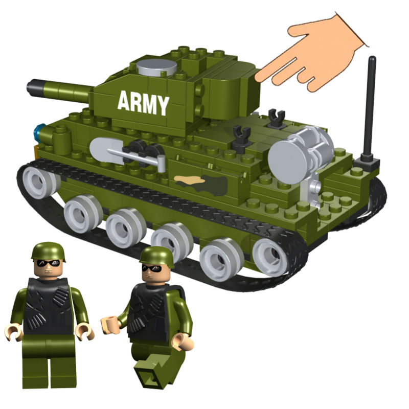 Tatco 204pcs Military Army Tank Block Build Model Set Diy Connection