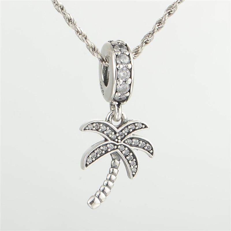 889c49f43f17 Pandulaso árbol de coco Amuletos para las mujeres DIY plata 925 joyería  apta original serpiente CADENA DE Pulseras de Moda Cuentas
