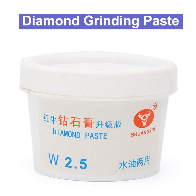 все цены на 60g/pcs Diamond Grinding Paste Metal Mould Stainless Steel Mirror Surface Jade Grinding Polishing Paste Water Oil Dual-used онлайн