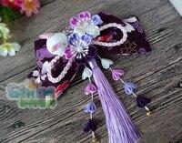 Hand Made Hairpin Cotton Cloth Hair Clip Tie Barrettes Japanese Style Anime Cosplay Accessories Original Lolita Kimono Bathrobe