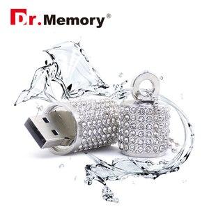 Image 2 - Luxury Rhinestones Diamonds USB Flash Drive High Quality Memory Stick Waterproof Pen Drive 4G 8G 16G 32G 64G Memory U Flash Disk