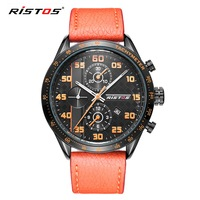 RISTOS Brand Extreme Sports Quartz Analog Army Men Watches Genuine Leather Watches Reloj Masculino Watch Reloj
