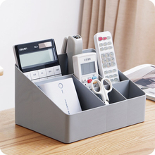 Multi-Grid Desktop Cosmetics Box Creative Plastic Jewelry Sundry Organizer Multifunction Livingroom Remote Control Storage Boxes цена в Москве и Питере