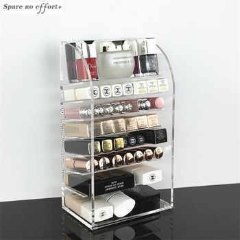 Clear Acrylic Makeup Organizer Lipstick Nail Polish Holder Desktop Cosmetic Organizador Storage Box Makeup Tools Container - DISCOUNT ITEM  40% OFF All Category