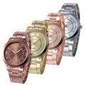 2016 Hot sale Geneva Watch Men Women Full Steel Sport Casual Simple style Diamond Quartz Watches relogio masculino