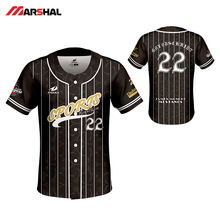 Custom Design Baseball Jerseys Sublimated Training Wear Mens Sports Shirt Camiseta Beisbol Hombre Breathable Shirts