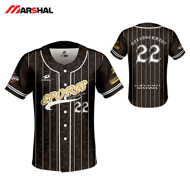 3ffc0126 Training wear mens sports custom design baseball jersey sublimated button  down shirt lack and white color for sale