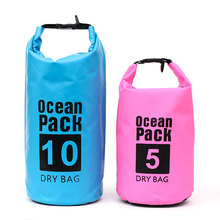 5L / 10L 15L 20L Outdoor Waterproof Bag Camping Backpack Swimming Drifting Items Storage Light