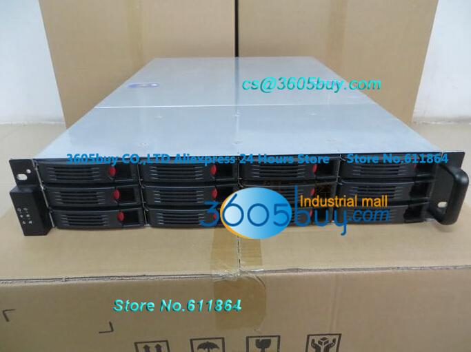 New 2u 12 plate hot pluggabel storage server 2U computer case industrial computer case 2.5 hard drive Hot sale new industrial computer case 2u server computer case pc power supply length 43