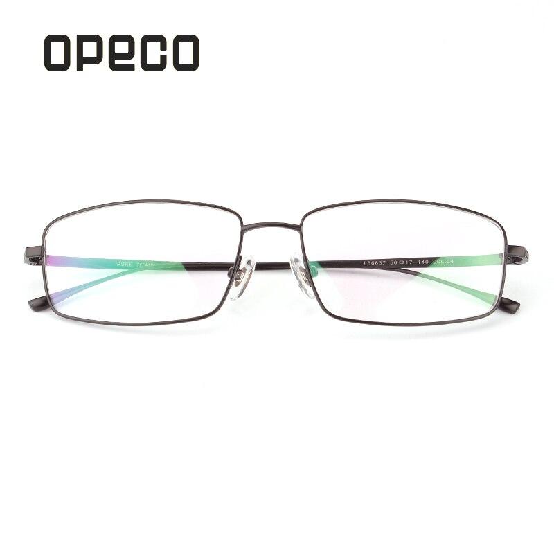 Opeco pure titanium men's business eyeglasses including prescription lenses eyewear RX recipe male frame spectacles 6637