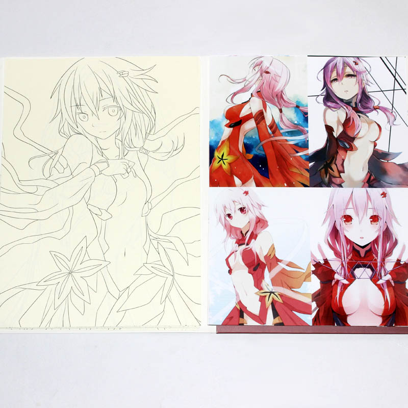 Anime Comic GUILTY CROWN Colorful Art Book Sketch For Children Adult Manual Hand Painting Drawing Books Hand Drawn Illustration