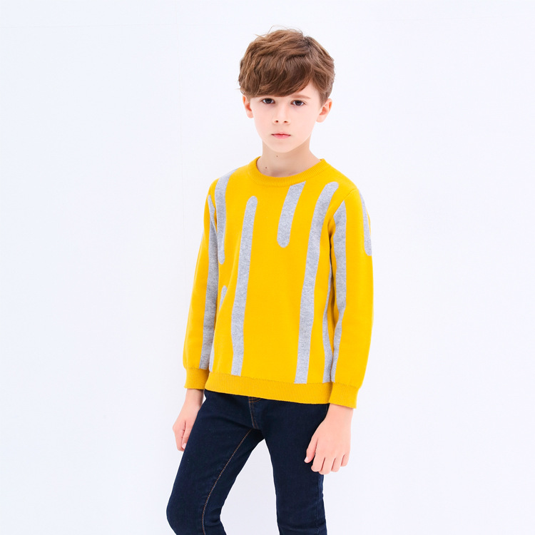 Boys Sweaters O-neck Warm Outerwear Baby Boys Striped Sweater 2018Autumn Winter Knitted Pullovers Children Clothing Kids ClothesBoys Sweaters O-neck Warm Outerwear Baby Boys Striped Sweater 2018Autumn Winter Knitted Pullovers Children Clothing Kids Clothes