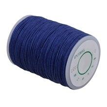 Темно-синий 0,7 мм Диаметр ручная работа кожа швейная пеньковая строчка вощеная нить