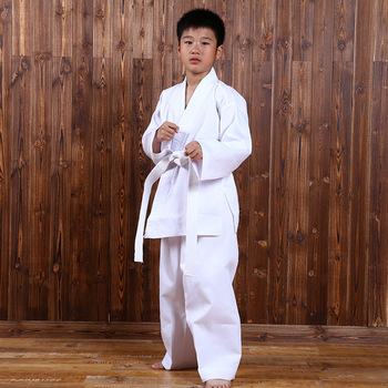 white taekwondo uniforms wtf karate judo taekwondo dobok clothes children adult unisex long sleeve tkd clothing Fitness Clothes Sports Taekwondo Karate Athletic Wear Season Costume Children's Judo Sports Training Suit Karate Clothing