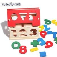 Hot Sale Model Building Kids DIY Wooden Digital Puzzle House 3d Puzzle For Children Educational Toys