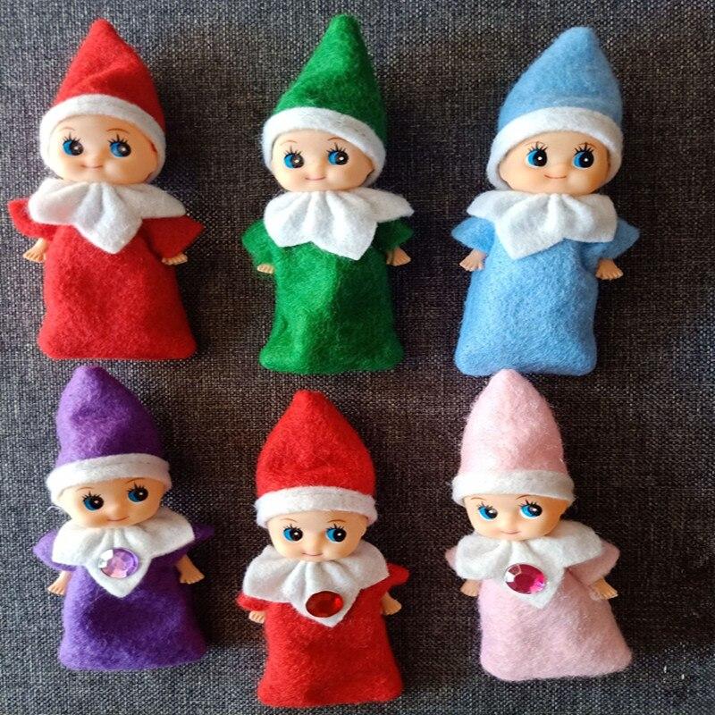 цена на 50pcs/200pcs Elf Baby Plush Toy Baby Christmas Plush Dolls Boy Girl Figure Decoration Toys
