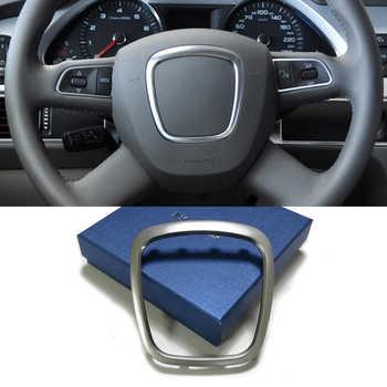 Chrome steering wheel trim frame emblem badge cover center logo ring sticker accessories for  Audi A3 A4 B6 B7 B8 A5 A6 C6 Q7 Q5 - DISCOUNT ITEM  49% OFF All Category