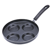New thick 4 hole egg Non stick Layer Pan diameter 24cm cast iron frying pan wok gas cooker for Kitchen cooking tools