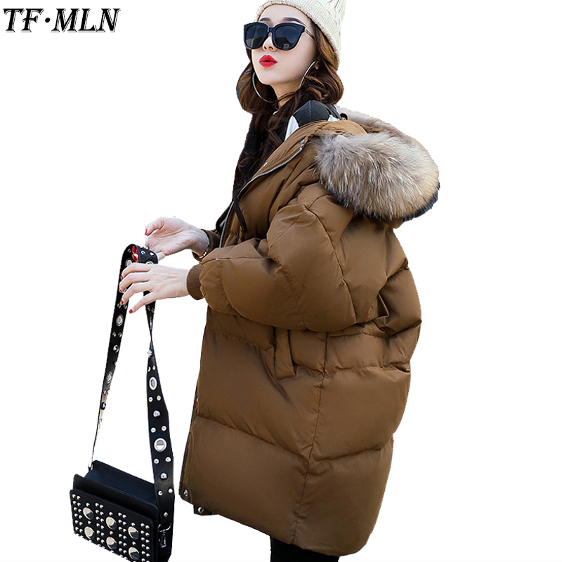 Fur Collar Winter Jacket Women Parka Cotton Warm Down Parkas Hooded Coat Woman Clothes Plus Size Abrigos Mujer Invierno 2017 plus size 5xl winter jacket women hooded long parka down cotton jacket women fur collar wadded coat parkas abrigos mujer c3762