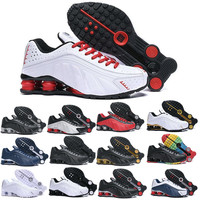 Gold Rainbow Shox R4 Men Designer Shoes Chaussures R4 Basketball Shoes Zapatillas Hombre Nz Man Sport Trainers Tn Size 40 46