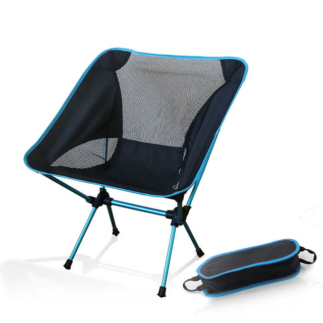 portable beach chair table and 4 chairs set camping lightweight folding fishing outdoorcamping outdoor ultra light orange red dark blue