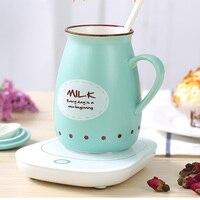 Calentador de escritorio de 220 V, calentador de taza, máquina de leche caliente, temperatura constante, taza de leche caliente para el hogar mat