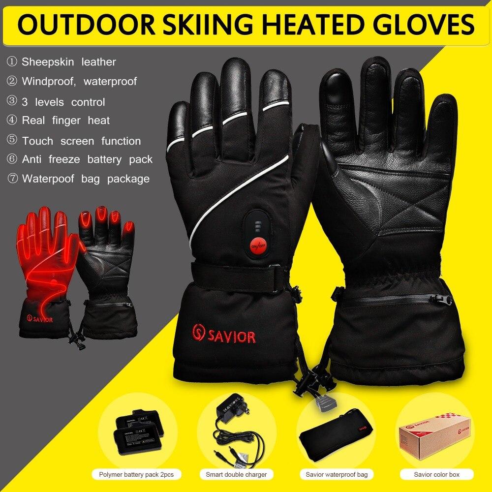 Спаситель S-15 Зима Электрические нагревательные Перчатки зима Лыжный спорт, рыбалка, низкая температура кожа Перчатки для мужчин и женщин