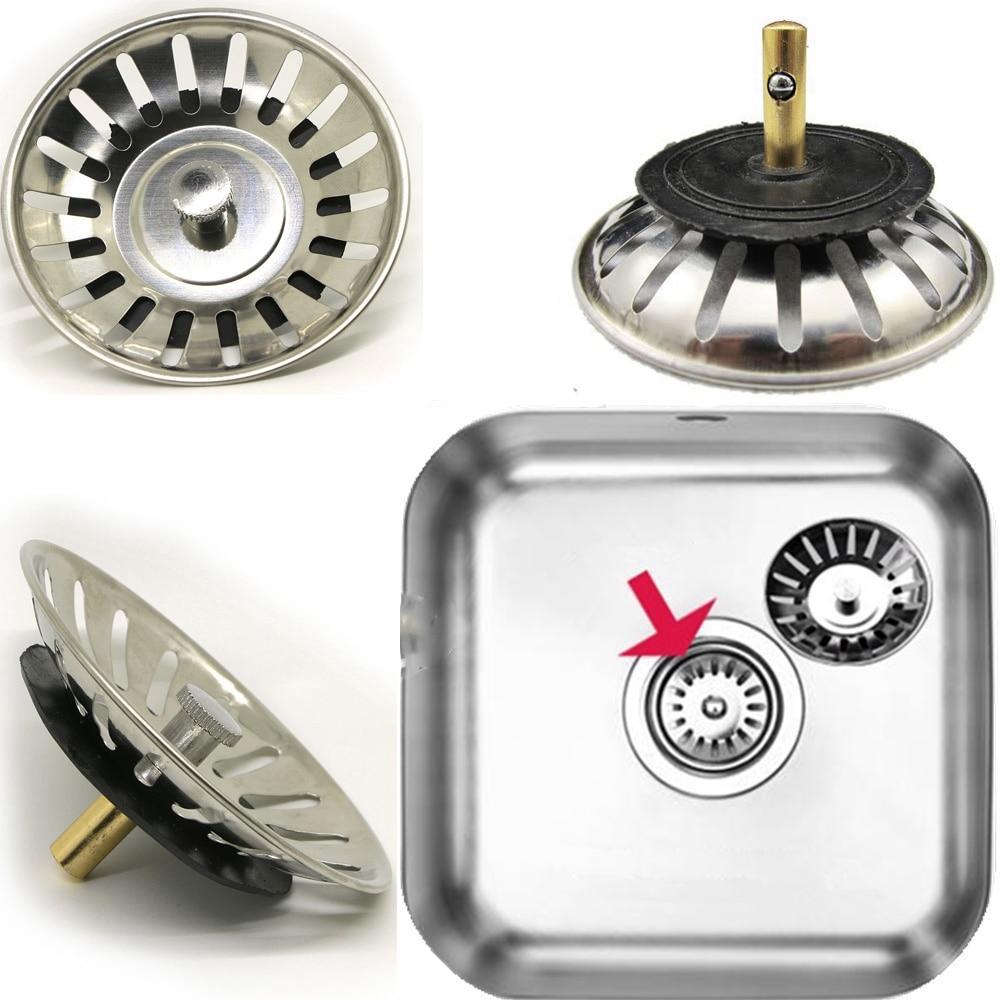 stainless steel kitchen sink drain mesh stopper basket strainer rh aliexpress com