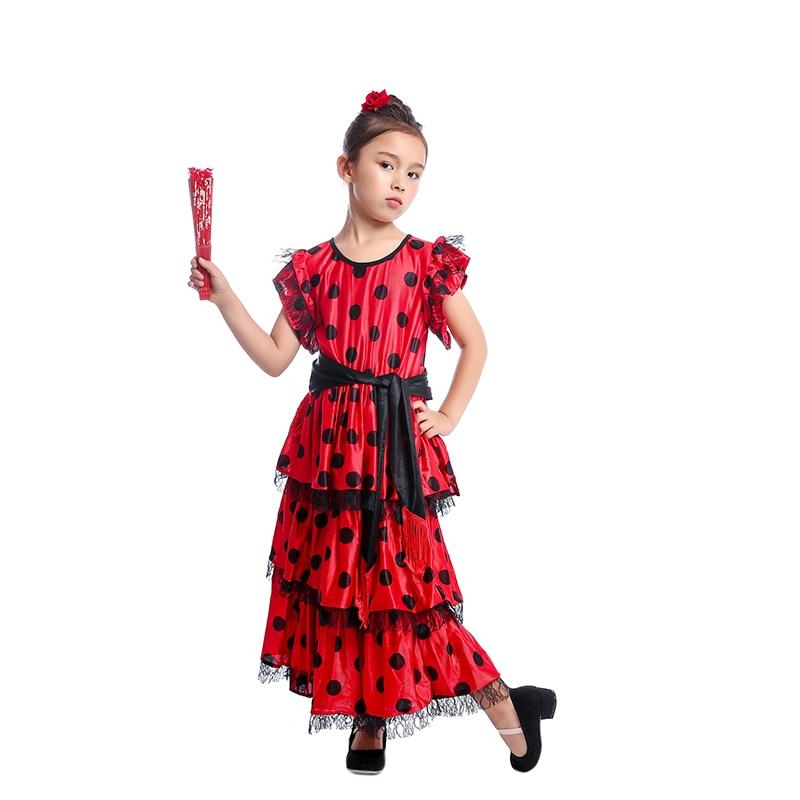 0d93d2fda Vestido de fantasía para niños bailarina flamenca tradicional para niñas  señorita española en Disfraces niñas de La novedad y de uso especial en ...