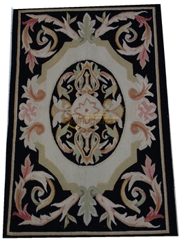 Home Decore Ethnic Style Wool Rug Carpet Antique aubusson Style French Carpet Antique Aubusson French Hand Woven Wool Carpet