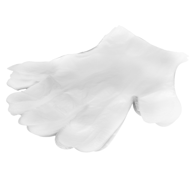 2017 100 Disposable PE Garden Home Restaurant BBQ Plastic Multifuction Gloves