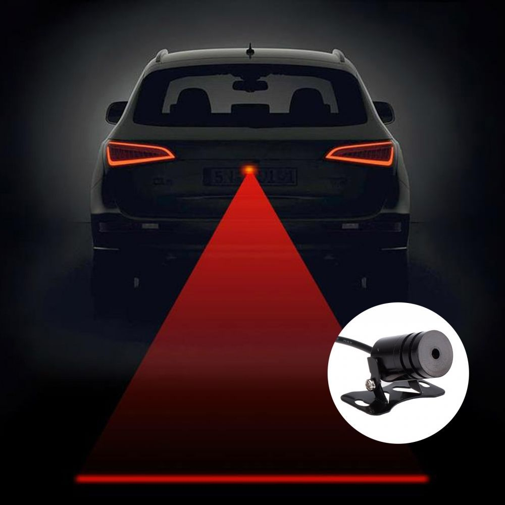 2017 New Red Car Laser Fog Light LED Anti-Collision Anti-fog Car Rear Warning Lights To Warn Of Waterproof All Cars Universal for chevy chevrolet lacetti matiz automotive anti rear fog light vehicle collision warning safety laser fog lights