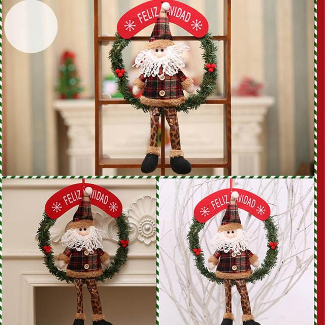 Christmas Decor Xmas Door Wreath Christmas Garland Party Door Decor