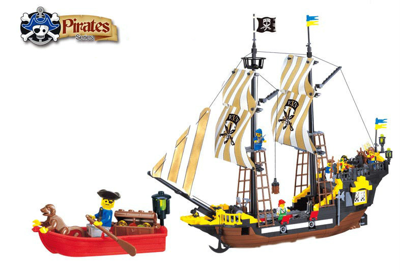 590Pcs Enlighten Pirate Series Friends Toys Pirate Ship Weapons Assembling Building Block Set Compatible With Legoe lepin 22001 pirate ship imperial warships model building block briks toys gift 1717pcs compatible legoed 10210