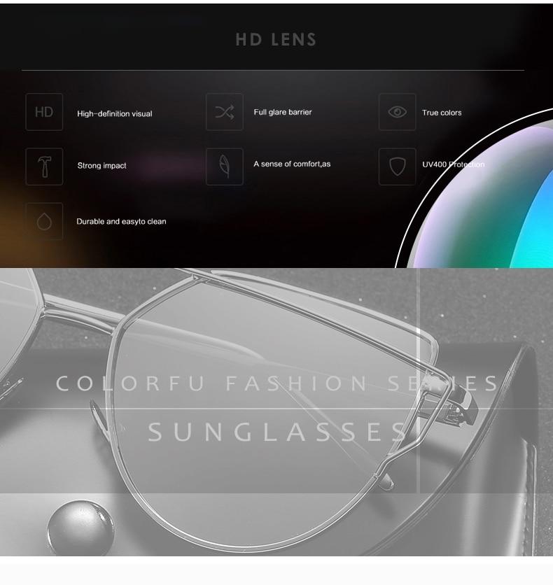 3a3f4a4268970 2017 Marca designer rose gold espelho Olho de Gato do vintage óculos de Sol  Para As Mulheres de Metal Reflexivo lente plana Óculos de Sol Feminino  oculos